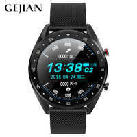 GEJIAN Bluetooth Smart Watch Men's Cardiogram + PPG HRV Blood Pressure Monitor IP68 Waterproof Sports Watch Support Android IOS