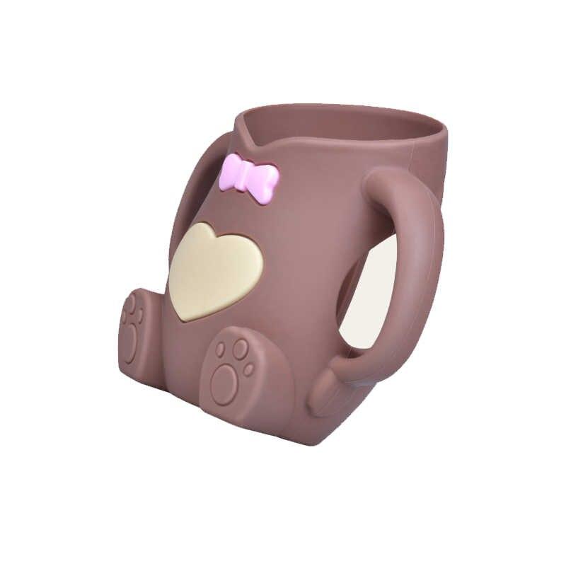 240ml bébé Silicone lait biberon Mamadeira Vidro sans BPA sûr infantile jus eau biberon tasse verre soins infirmiers Feede