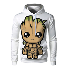 The Avengers Groot Hoodies Men Streetwear Fashion Top 3d Printed Long Sleeve Hoodie Mens Funny Hip Hop Casual Male Sweatshirt fashion marvel men hoodies the avengers i am groot 3d printed cute hoodie zip hoodies unisex casual streetwear sudadera hombre