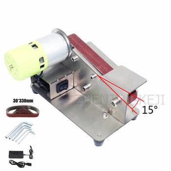 Desktop Abrasive Belt Machine Polisher DIY Polishing And Grinding Machine Fixed Angle Sharpening Tools Woodworking Equipment