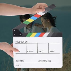 Director Video Scene Clapperboard Colorful Clapper Board Cut Prop Acrylic Dry Erase Director TV Movie Film Action Slate Clap