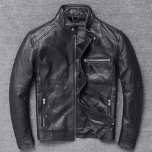 Genuine Leather Jacket Men Clothes 2019 Cowhide Coat Motorcycle Real C