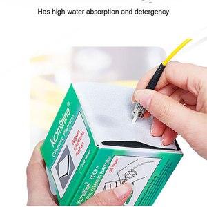 Image 4 - 280 teile/schachtel Faser Reinigung Werkzeug Staubfreie Papier Fiber Optic Low lint Tücher low staub wisch papier, faser reinigen papier, FTTH werkzeuge