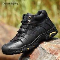 Goldene Sapling Winter männer Stiefel Im Freien Echtem Leder High Top Sneakers Männer Berg Trekking Camping Taktische Werkzeug Schuhe