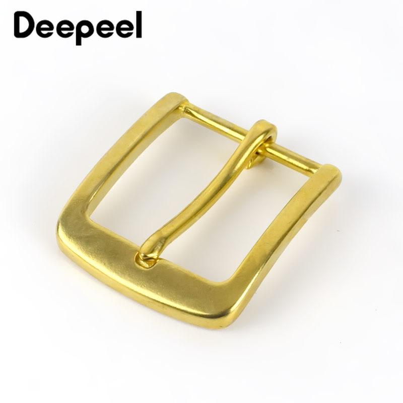 Deepeel Solid Brass Metal Belt Buckle Men Women Pin Buckles Head For Belt 37-38mm DIY Leather Craft Jeans Accessories YK179