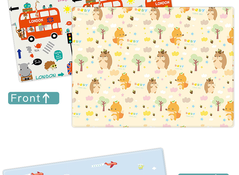 H02cc3f33376b4974bd3fa0cb74a1e046P Miamumi Portable Baby Play Mat XPE Foam Double Sided Playmat Home Game Puzzle Blanket Folding Mat for Infants Kids' Carpet Rug