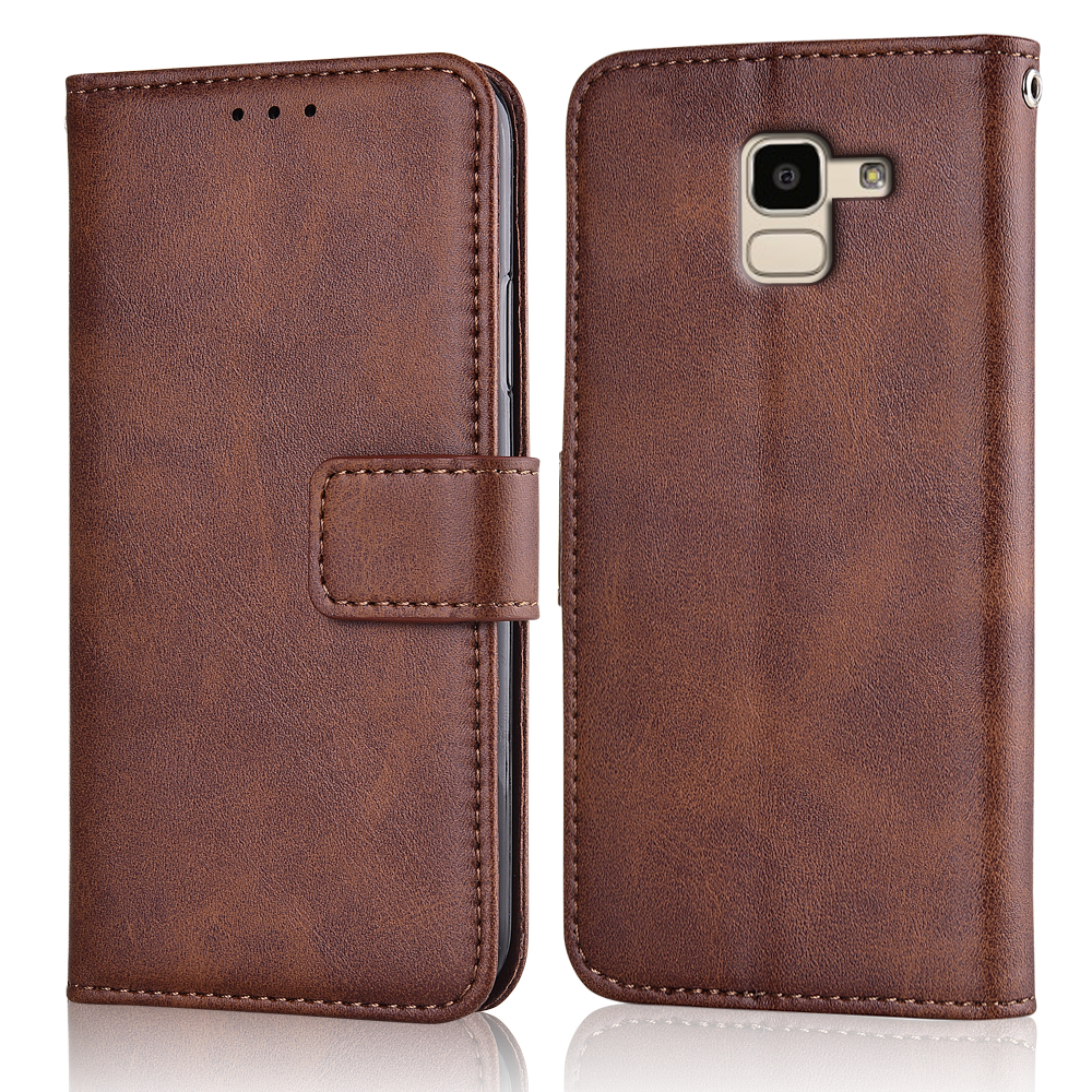 J6 2018 J600F Case Slim Leather Flip Cover for Samsung Galaxy J6 2018 J600 SM-J600F Case Wallet Magnetic case for SamsungJ6 2018