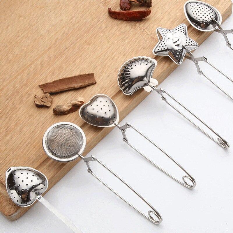 1PC Tea Infuser Spoon Tea Strainer Handle Stainless Steel Reusable Tea Filter