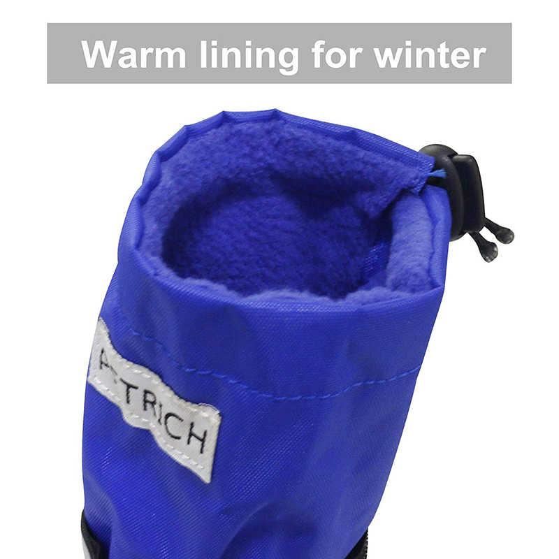 Benepaw Duurzaam Waterdicht Medium Grote Hond Laarzen Winter Comfortabele Verstelbare Reflecterende Antislip Sneeuw Rubberen Zool Schoenen Huisdier
