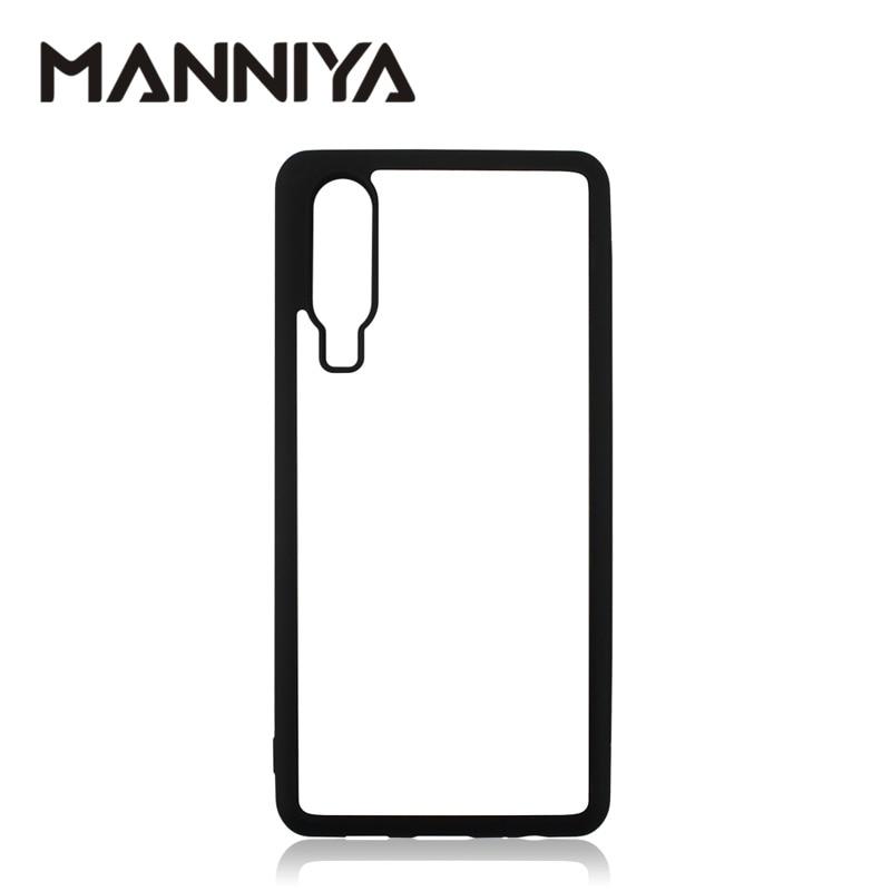 MANNIYA pro Huawei P10 P20 P30 Y5 Y6 Y7 Y9 Nova 5 6 Prázdné gumové pouzdro sublimace s hliníkovými vložkami 10ks / lot