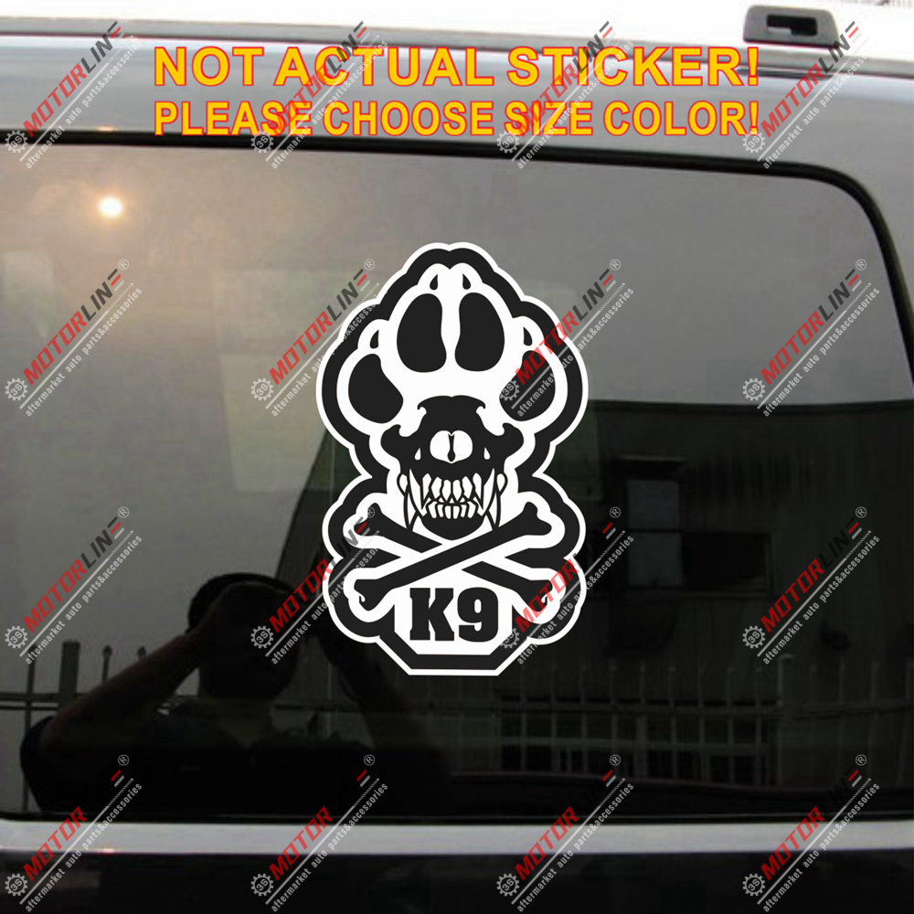 3M Graphics K9 Unit Police Guard Dog Paw Vinyl Motorcycle Car Truck Decal Stick