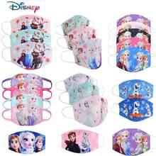 Disney congelado dos desenhos animados anti-haze boca máscara facial crianças reutilizáveis lavável proteção à prova de poeira crianças cosplay meninas presentes