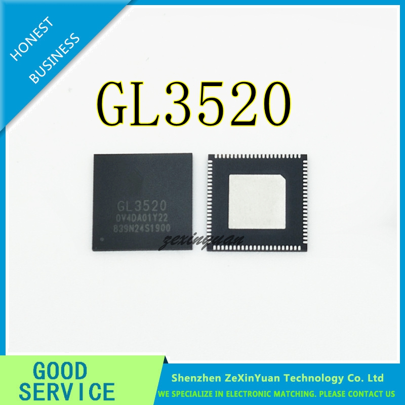 5PCS/LOT GL3520 3520 QFN88 HIGH SPEED USB3.0-HUB MASTER IC CHIP NEW ORIGINAL