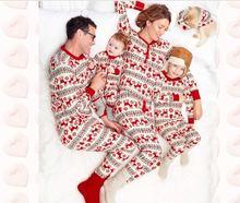 Семейный комплект рождественской пижамы 2020 для взрослых и