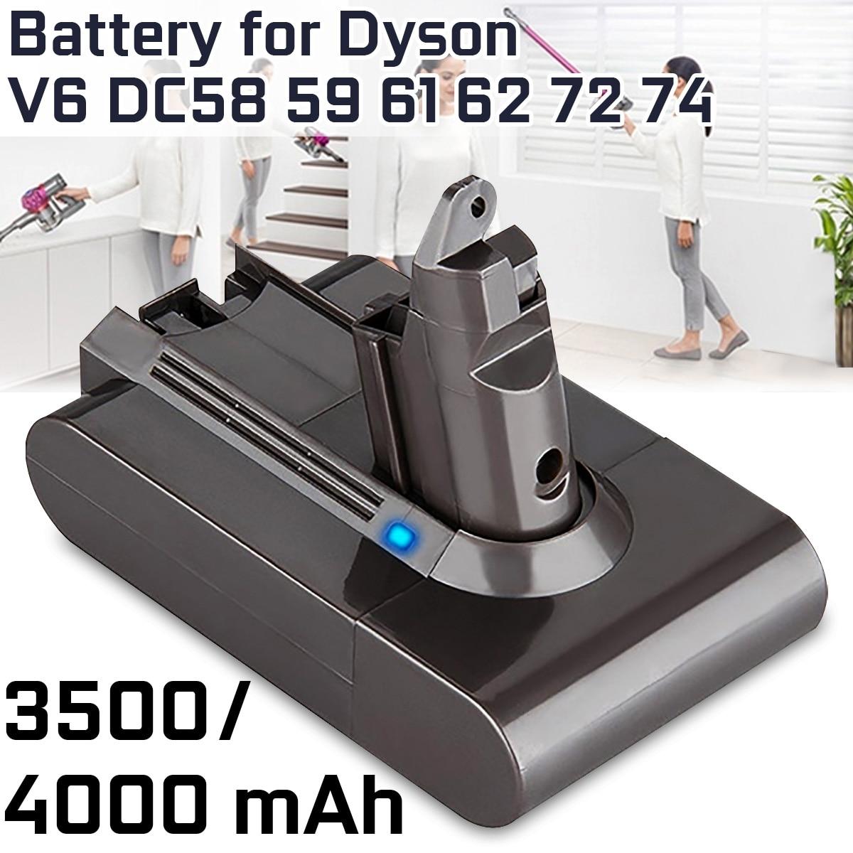 4000mAh 3500mAh Li-ion Vacuum Cleaner Battery Replacement For Dyson Battery V6 DC58 59 61 62 72 74 Replacement Battery