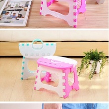 Portable Stool Chair Storage Folding Plastic Outdoor Home Train Multipurpose