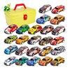 Boy Car Toy Box Set Montessori Children's City Tractor Alloy Train Simulation 1:64 Racing Car Model Educational 3 Year Game