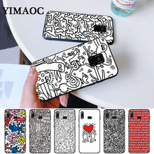 Keith Haring Silicone Case for Samsung A3 A5 A10S A30S A50S A6 Plus 2018 A7 A8 A9 A10 A30 A40 A50 A60 A70 J6