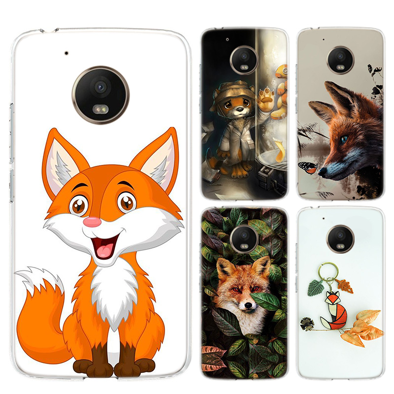 Cute Fox In Autumn Leaves Forest Silicone Soft Case For Motorola Moto G8 G7 Power G6 G5 G5S E4 E5 Plus G4 Play Cover Coque