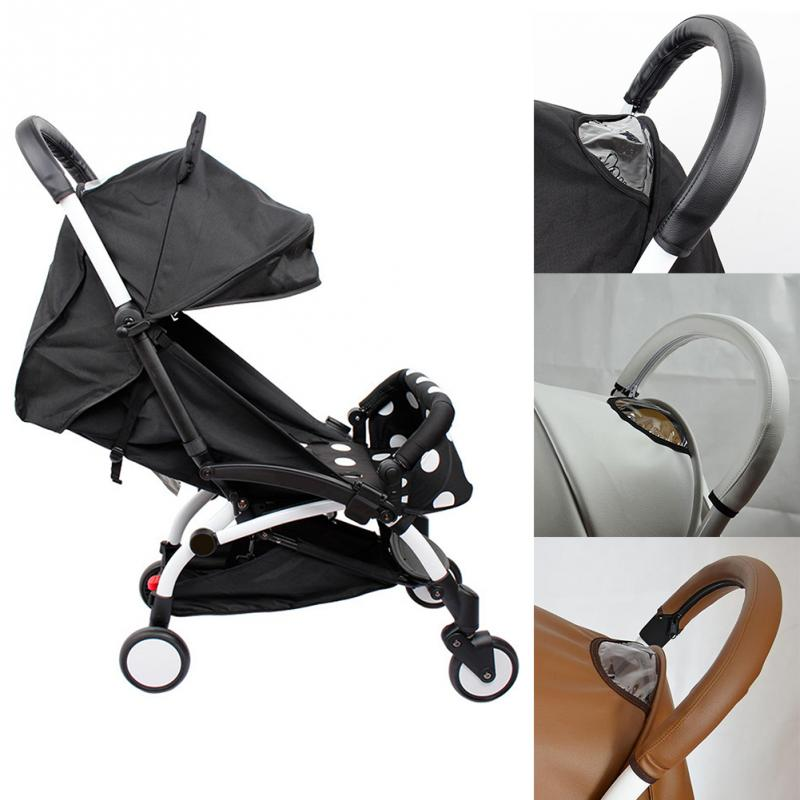 2019 Hot Baby Stroller Handle PU Leather Pushchair Armrest Case Protective Cover For Baby Pram Stroller Accessories