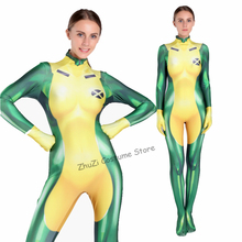 3D Print X-Men Rogue Cosplay Costume Sexy Fitness Catsuit Zentai Suit Bodysuit Woman/Girls/Lady Superhero Halloween Xmen Costume free shipping 3d printting female x men dark phoenix superhero costume new jean grey cosplay costume tight catsuit bodysuit