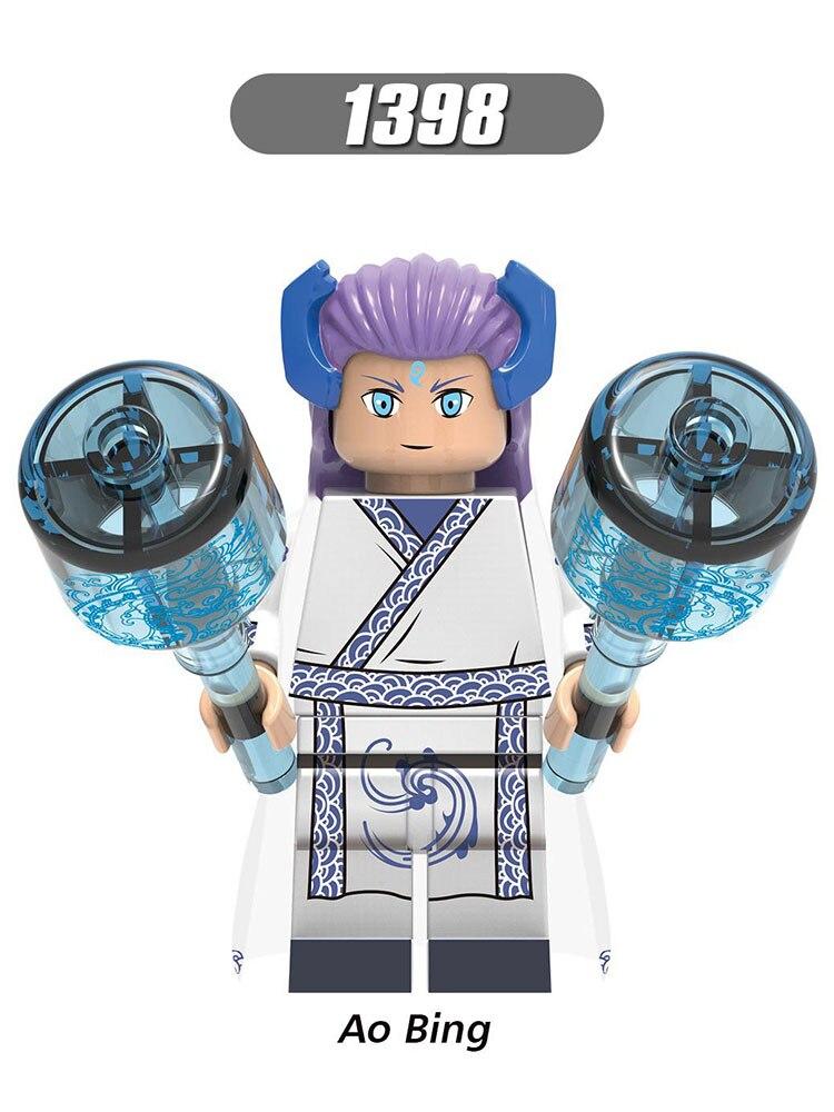 Single Sale LegoINGlys Chinese Mythological Story MiniFigure Xu Xian Ao Bing Sun WuKong Green Snake Model Toy Gril Gift Xh1398