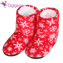 Glglgege Warm Winter Slippers Home Family Boots Snowflake Snow Slipper Shoes Comfort Casual bottes femme