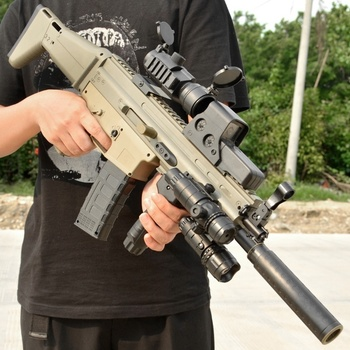 PUBG SCAR Water Bullets Children's Christmas Gift Rifle High Quality Water Gun Fun CS Game Kids Outdoor Boys Play