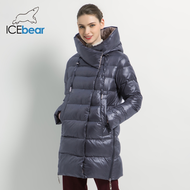 ICEbear 2019 New Winter Women's Jacket High Quality Women's Coat Fashion Warm Female Coats Brand Women's Clothing GWD19503I
