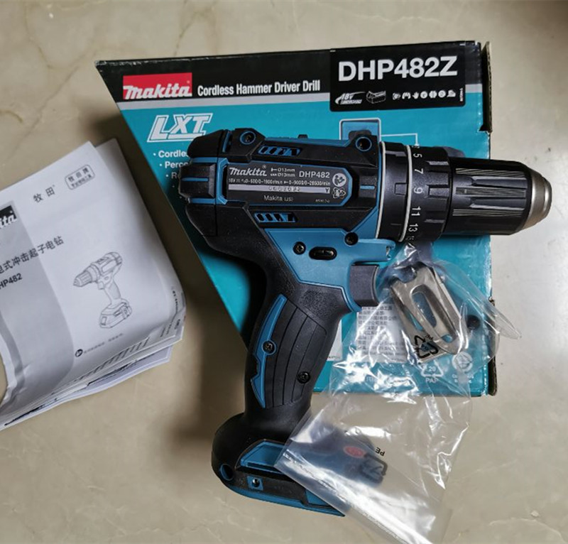 Makita DHP482Z  DHP482RFE DHP482RAE 18V  DHP482  LXT Li-ion Cordless 2 Speed Combi Drill Replace For DHP456 DHP456Z Body Only