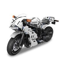 Мотоцикл technic совместимый с мотоциклом гоночный мотоцикл