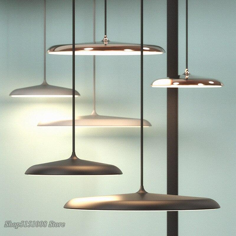Modern Pendant Lights Danish Art Metal LED Pendant Lamps Living Room Hang Lamp Kitchen Light Fixture Indoor Luminaire Decoration