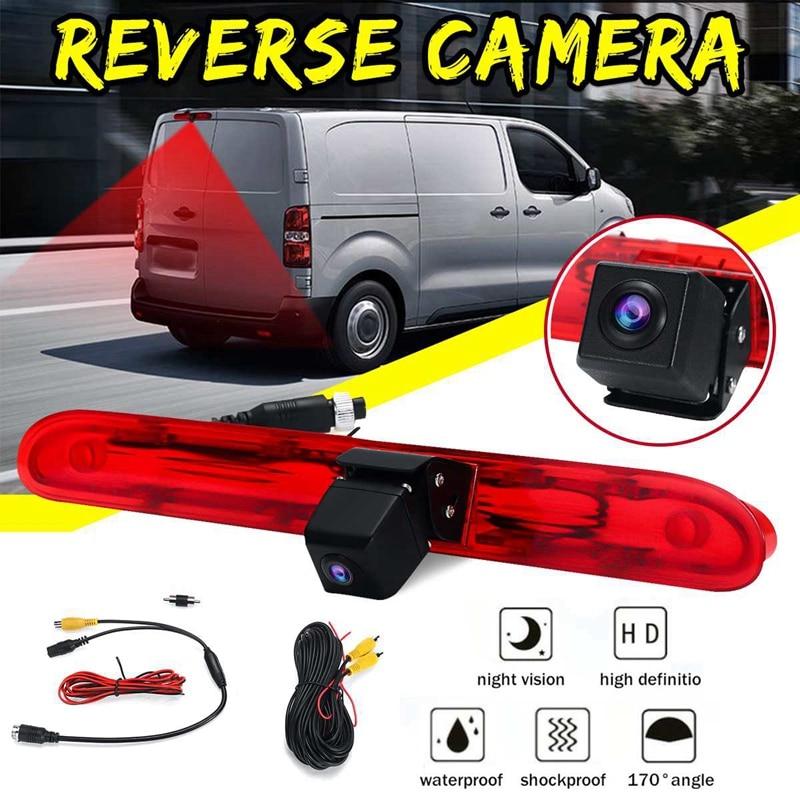 Камера заднего вида для автомобиля, светильник заднего тормоза для Peugeot Expert Van для Citroen, отправка Для Toyota Proace Van 2016