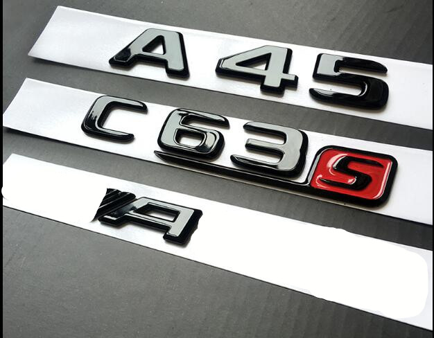 2018 Flat E430 Gloss Black Letters Trunk Emblem Badge Sticker for Mercedes Benz