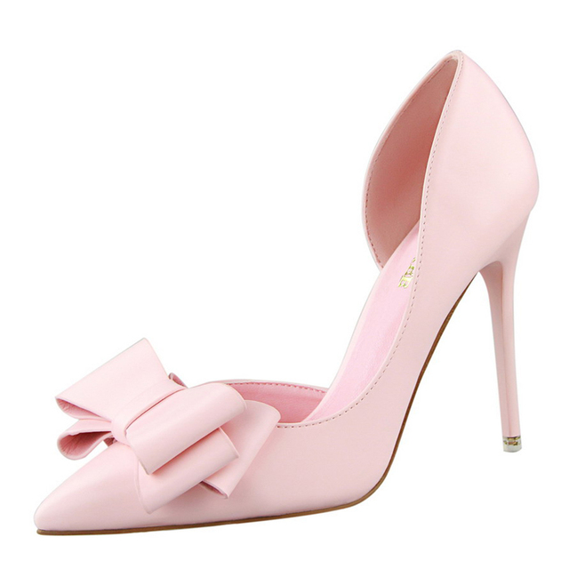 Bow Pointed Toe Pumps  5