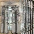 Новая роскошная серая штора в европейском стиле для гостиной, столовой, спальни, с вышивкой синели, индивидуальный пошив