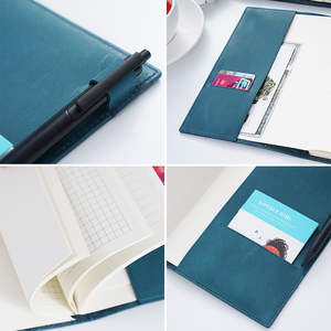 Image 3 - 100% Genuine Leather Notebook Planner Book Cover  A6 A5 B6 Slim For MD Diary Original Journal Drawing Sketchbook
