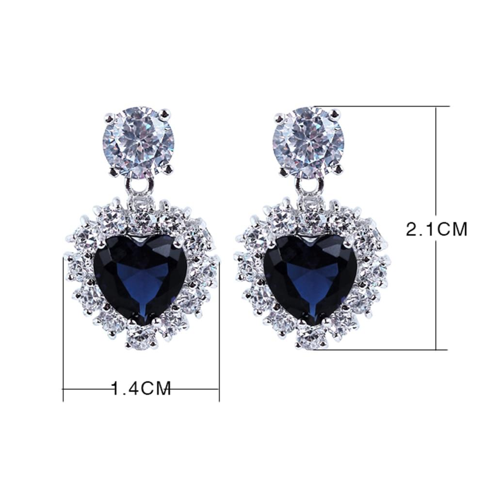 Heart Blue stone earrings (2)