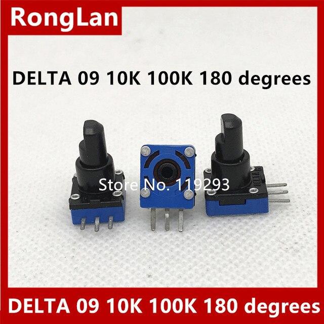 [BELLA]Regent DELTA 09  type game potentiometer 10K 100K 180 degrees  20PCS/LOT