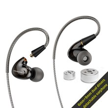 Профессиональные наушники вкладыши Tennmak Pro Dual Dynamic Driver, спортивные наушники MMCX с микрофоном VS SE215 SE525