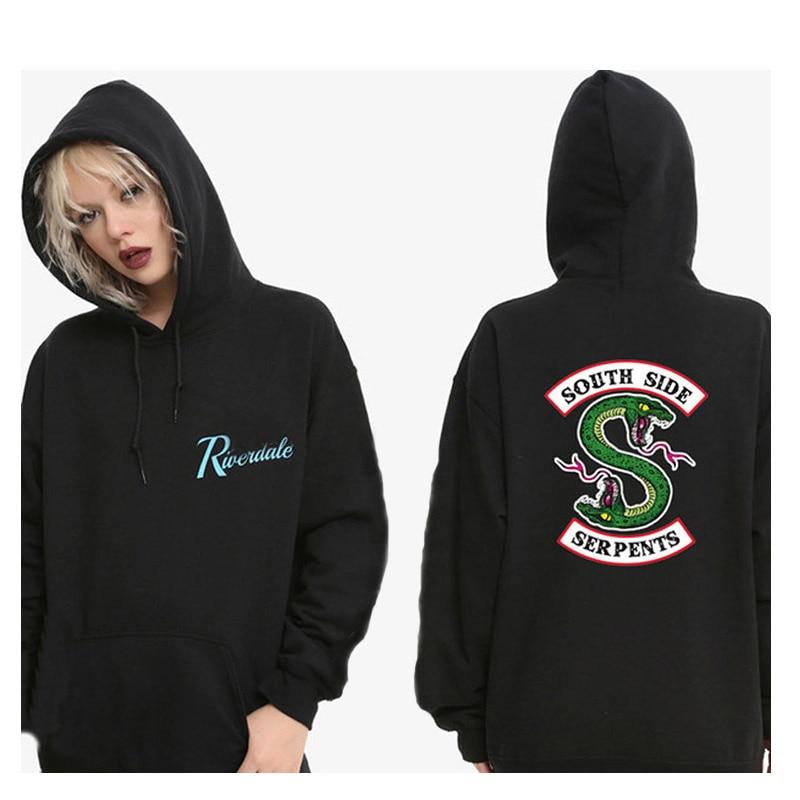 Riverdale Hoodie Men Women South Side Serpents Harajuku Riverdale Southside Boys Girls Oversize Sweatshirts Pullover Hoodies