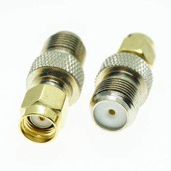 F к RP SMA разъем гнездо F к RP SMA штекеру F   RP SMA позолоченные латунные прямые коаксиальные RF адаптеры|Соединители|   | АлиЭкспресс