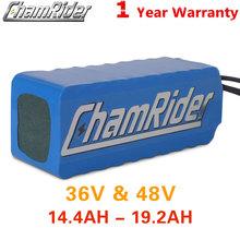 Chatrider 36V bateria 10AH 20A BMS ebike bateria 48V bateria 30A 18650 bateria litowa do roweru elektrycznego skuter elektryczny tanie tanio chamrider CN (pochodzenie) 10-20ah 48 v