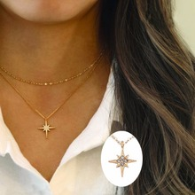 Chain Star Necklace Women Jewelry Layered Necklaces European