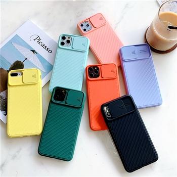Push pull miękka ochrona silikonowa obudowa telefonu dla iPhone 11 12 mini Pro max X XS XR MAX 7 8 plus odporna na wstrząsy luksusowa obudowa tanie i dobre opinie vikcase APPLE CN (pochodzenie) Bumper Zwykły