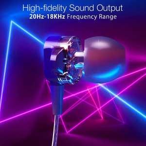 Image 5 - BlitzWolf BW ES4 Проводные наушники Гарнитура Dual Dynamic Driver Наушники IPX5 Наушники вкладыши 3,5 мм Проводное управление Наушники Наушники Магнитные с микрофоном Hifi Music