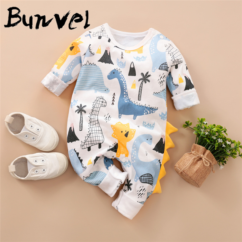bunvel Boys   Rompers   Kids   Romper   Autumn Winter 0-12M Age Infant dinosaur Printing Toddler Newborn Outfits Baby Boys 45