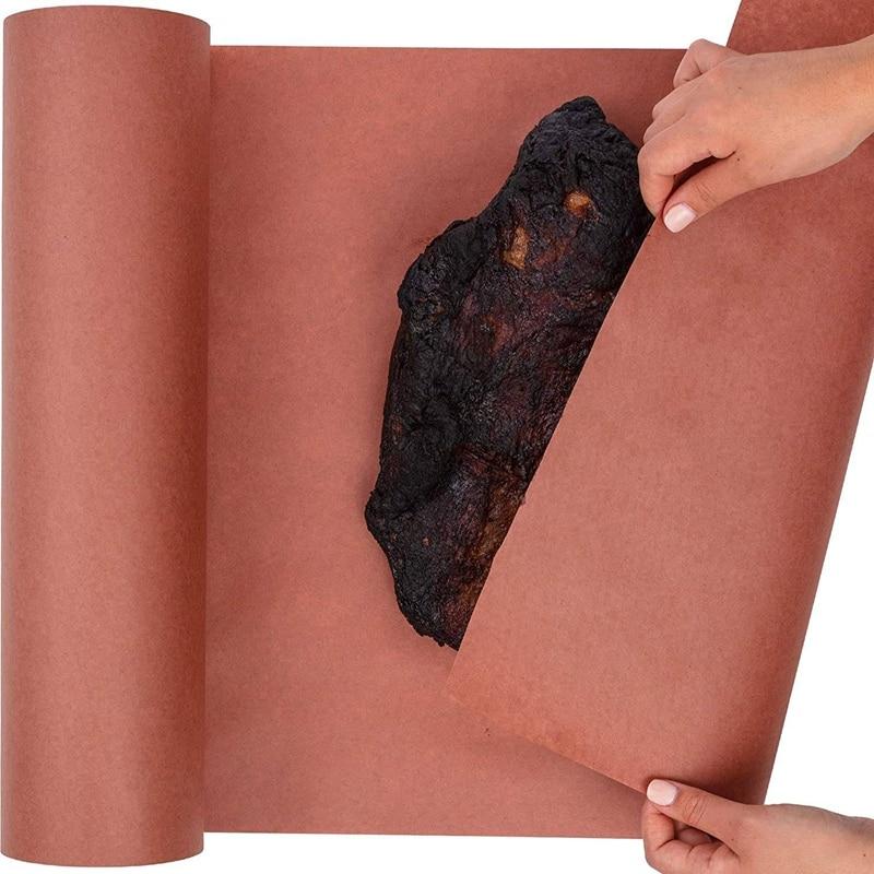 45.7cmx53. Papel de envolvimento do pêssego do produto comestível do rolo de papel do açougueiro de kraft rosa para fumar a carne de todas as variedades