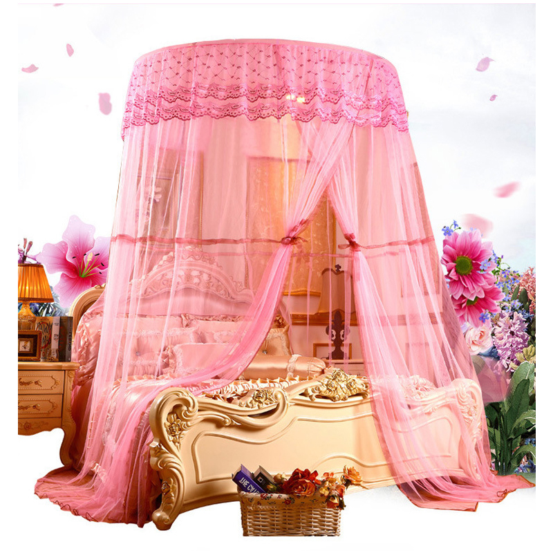 European Style Large Size Round Hung Dome Mosquito Net Fine Mesh Bed Netting Canopy Mosquito Nets Tent for Double Bed mosquitera