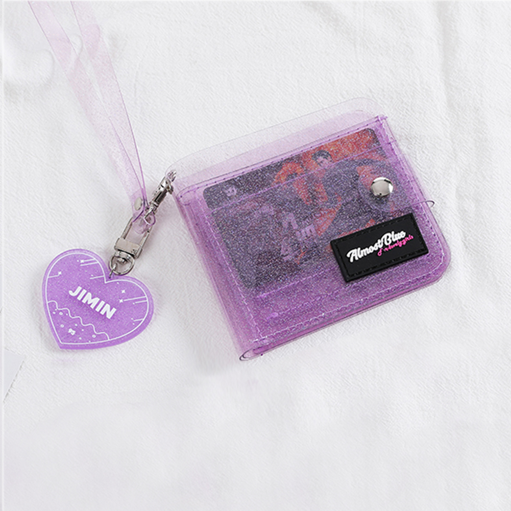 Transparent Coin Purse Women Wallet Laser PVC Card Clear Short Purse Mini Money Wallet Card Holder Female Mini Zipper Wallets